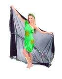 Aantrekkelijke het oostendans van meisjesdansen Royalty-vrije Stock Foto's