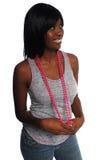 Aantrekkelijke jonge Afrikaans-Amerikaanse vrouw stock afbeeldingen