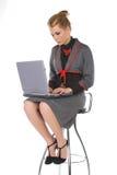 Aantrekkelijke jonge bedrijfsvrouw Royalty-vrije Stock Afbeeldingen
