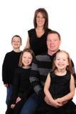 Aantrekkelijke jonge familie stock afbeeldingen