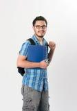 Aantrekkelijke jonge mannelijke student Stock Afbeelding