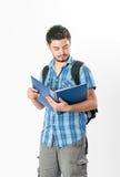 Aantrekkelijke jonge mannelijke student Stock Fotografie