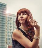 Aantrekkelijke Jonge Vrouw Stock Afbeelding