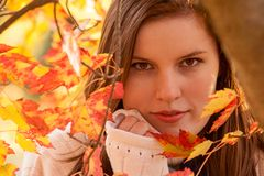 Aantrekkelijke Jonge Vrouw Stock Foto