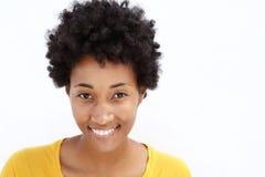 Aantrekkelijke jonge vrouw met exemplaarruimte Royalty-vrije Stock Foto