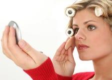 Aantrekkelijke Jonge Vrouw met Make-up stock foto