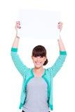 Aantrekkelijke jonge vrouw reclame Stock Foto