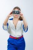 Aantrekkelijke jonge vrouwelijke zeeman Royalty-vrije Stock Afbeelding
