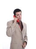 Aantrekkelijke jonge zakenman op de telefoon Royalty-vrije Stock Fotografie