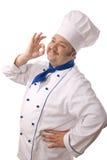 Aantrekkelijke kok stock foto