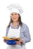 Aantrekkelijke kokvrouw stock foto's