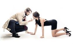 Aantrekkelijke man en vrouw stock foto's