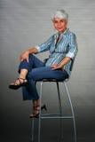 Aantrekkelijke maturvrouw royalty-vrije stock afbeelding