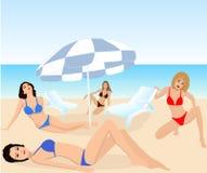 Aantrekkelijke meisjes - vector royalty-vrije illustratie