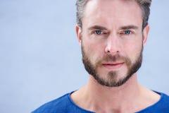 Aantrekkelijke mens met baard Stock Foto