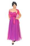 Aantrekkelijke modelvrouw in roze kleding Royalty-vrije Stock Fotografie