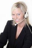 Aantrekkelijke receptionnist Royalty-vrije Stock Afbeeldingen