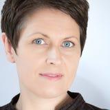 Aantrekkelijke Rijpe Dichte Omhooggaand van de Vrouw Stock Foto's