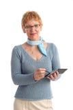 Aantrekkelijke rijpe vrouw Stock Foto's