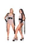 Aantrekkelijke twee gaan-gaan dansers Stock Foto