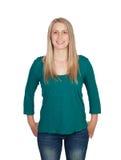 Aantrekkelijke vrouw met blond haar Stock Fotografie