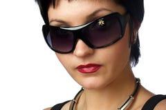 Aantrekkelijke vrouw. Portret. Close-up. Stock Afbeelding