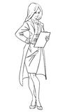 Aantrekkelijke vrouw Vector illustratie Royalty-vrije Stock Afbeeldingen