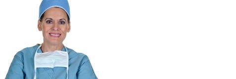 Aantrekkelijke Vrouwelijke Chirurg Stock Foto