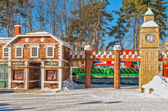 Aantrekkelijkheden bij Gorki-Park in Kharkov Stock Fotografie