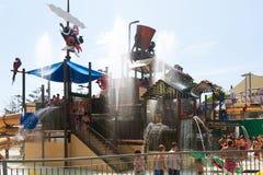 Aantrekkelijkheden in Illa Fantasia Water Park Stock Afbeelding