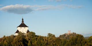 Aantrekkelijkheden van Banska Stiavnica, royalty-vrije stock afbeelding