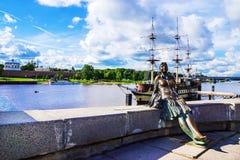 Aantrekkelijkheden van Veliky Novgorod, Rusland royalty-vrije stock fotografie
