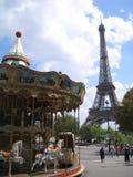 Aantrekkelijkheid in het centrum van Parijs Stock Afbeelding
