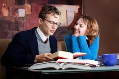 Aantrekkelijkheid met studiepartner Stock Fotografie
