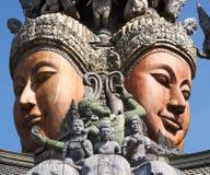 Aantrekkend Pattaya Santuary van waarheid Thailand. Royalty-vrije Stock Foto's
