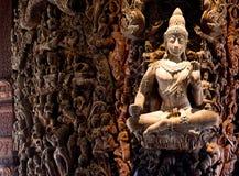 Aantrekkend Pattaya Santuary van waarheid Thailand. stock afbeeldingen