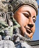 Aantrekkend Pattaya Santuary van waarheid Thailand. stock foto's