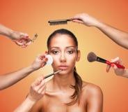 Aantrekkingskracht makeover voor een mooie vrouw Stock Fotografie