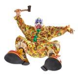 Aanval van de kwade clown royalty-vrije stock foto's