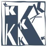 Aanvankelijke brief K stock foto
