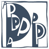 Aanvankelijke brief P royalty-vrije stock afbeelding
