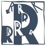 Aanvankelijke brief R stock afbeelding