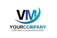 Aanvankelijke Brief VM Logo Concept Design Royalty-vrije Stock Fotografie