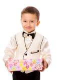 Aanwezige de holding van de jongen royalty-vrije stock afbeelding