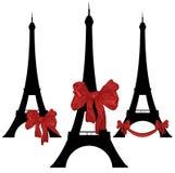 Aanwezige de toren van Eiffel Stock Foto's