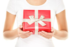 Aanwezige gift/Kerstmis Royalty-vrije Stock Afbeeldingen