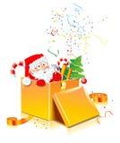 Aanwezige kerstman stock foto