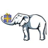 Aanwezige olifant stock illustratie
