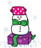 Aanwezige sneeuwman Stock Foto