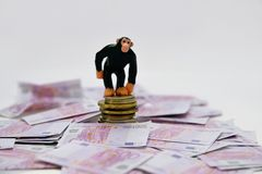 Aap en geld royalty-vrije stock foto